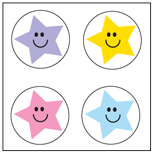 Incentive Stickers - Star (Pack of 1728) - Creative Shapes Etc.
