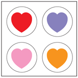 Incentive Stickers - Heart (Pack of 1728) - Creative Shapes Etc.
