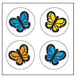 Incentive Stickers - Butterfly (Pack of 1728) - Creative Shapes Etc.