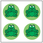 Incentive Stickers - Frogs (Pack of 1728) - Creative Shapes Etc.