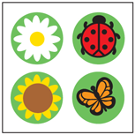 Incentive Stickers - Daisy/Bug (Pack of 1728) - Creative Shapes Etc.