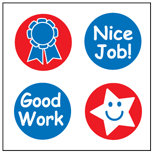 Incentive Stickers - Good Work (Pack of 1728) - Creative Shapes Etc.