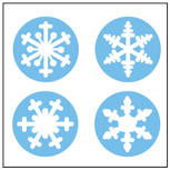 Incentive Stickers - Snowflake (Pack of 1728) - Creative Shapes Etc.