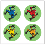 Incentive Stickers - Tree Frog (Pack of 1728) - Creative Shapes Etc.