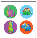 Incentive Stickers - Dinosaurs (Pack of 1728) - Creative Shapes Etc.