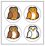 Incentive Stickers - Owl (Pack of 1728) - Creative Shapes Etc.