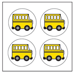 Incentive Stickers - School Bus (Pack of 1728) - Creative Shapes Etc.