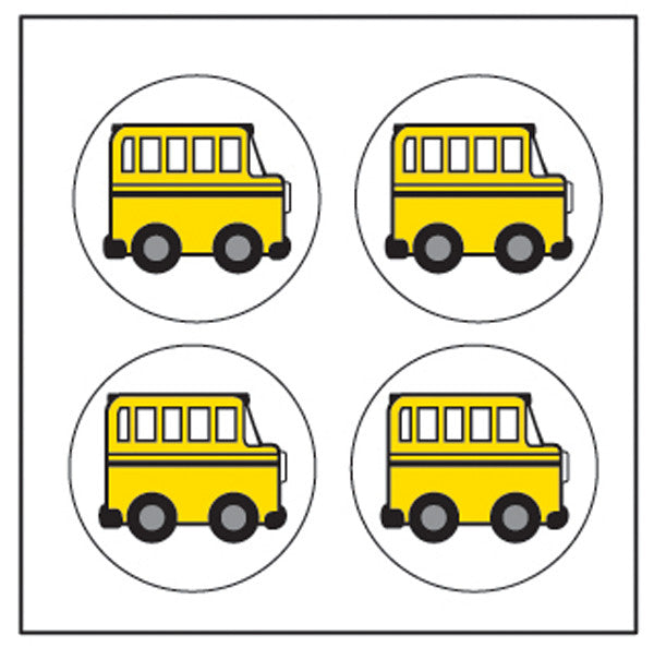 Incentive Stickers - School Bus - Creative Shapes Etc.