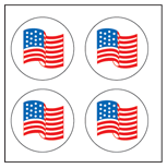 Incentive Stickers - Flag (Pack of 1728) - Creative Shapes Etc.