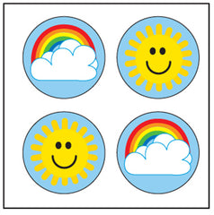 Incentive Stickers - Rainbow/Sun