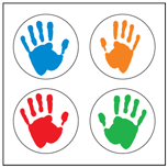 Incentive Stickers - Hands (Pack of 1728) - Creative Shapes Etc.