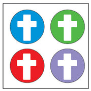 Incentive Stickers - Cross - Creative Shapes Etc.