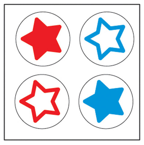 Picture of Incentive Stickers - Tri-Color Stars (Pack of 1728)
