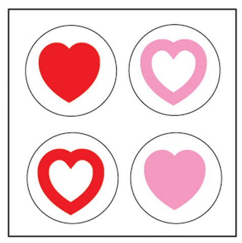 Picture of Incentive Stickers - Tri-Color Hearts