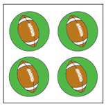 Incentive Stickers - Football (Pack of 1728) - Creative Shapes Etc.