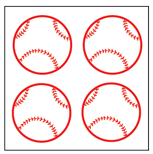 Incentive Stickers - Baseball (Pack of 1728) - Creative Shapes Etc.