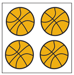 Incentive Stickers - Basketball (Pack of 1728) - Creative Shapes Etc.