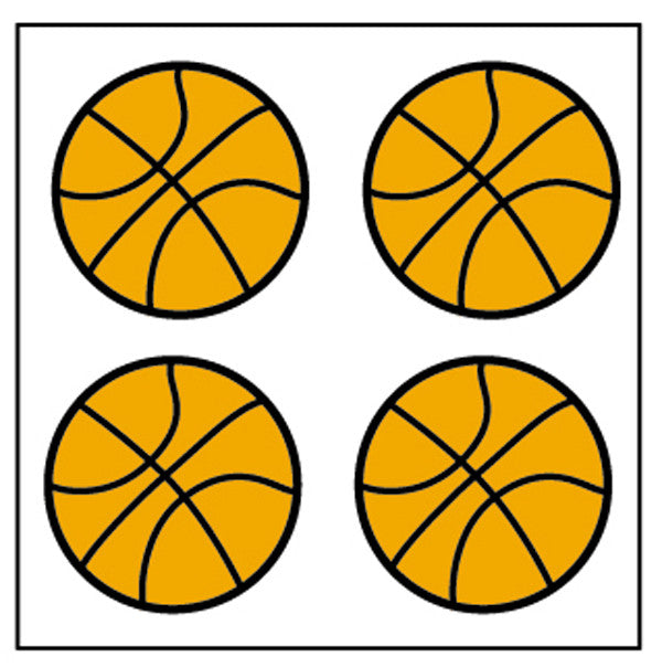 Incentive Stickers - Basketball - Creative Shapes Etc.
