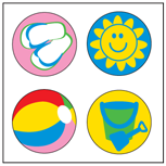 Incentive Stickers - Beach (Pack of 1728)