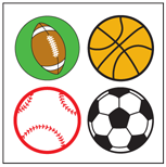 Incentive Stickers - Sports (Pack of 1728) - Creative Shapes Etc.