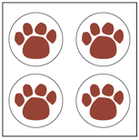 Picture of Incentive Stickers - Paw Print (Pack of 1728)
