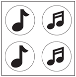 Incentive Stickers - Music Note (Pack of 1728) - Creative Shapes Etc.