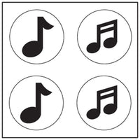 Incentive Stickers - Music Note - Creative Shapes Etc.