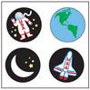 Incentive Stickers - Space (Pack of 1728) - Creative Shapes Etc.