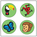 Picture of Incentive Stickers - Rainforest (Pack of 1728)