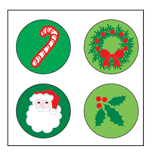 Incentive Stickers - Holly Daze (Pack of 1728) - Creative Shapes Etc.