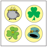 Incentive Stickers - St. Patrick's (Pack of 1728) - Creative Shapes Etc.
