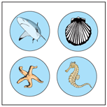 Incentive Stickers - Ocean (Pack of 1728) - Creative Shapes Etc.