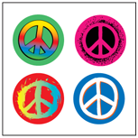 Incentive Stickers - Peace (Pack of 1728) - Creative Shapes Etc.