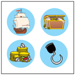 Incentive Stickers - Pirate (Pack of 1728) - Creative Shapes Etc.