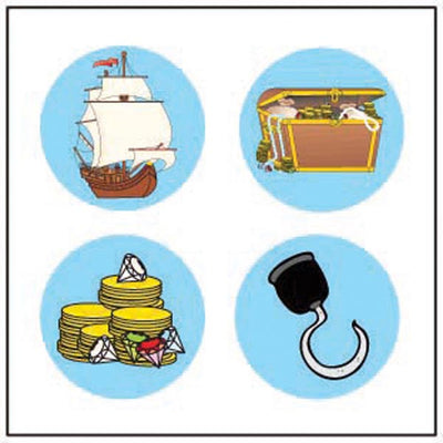 Incentive Stickers - Pirate Theme - Creative Shapes Etc.