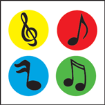 Incentive Stickers - Colorful Music Notes (Pack of 1728)