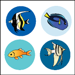 Incentive Stickers - Aquarium (Pack of 1728) - Creative Shapes Etc.