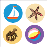 Incentive Stickers - Surf's Up (Pack of 1728) - Creative Shapes Etc.