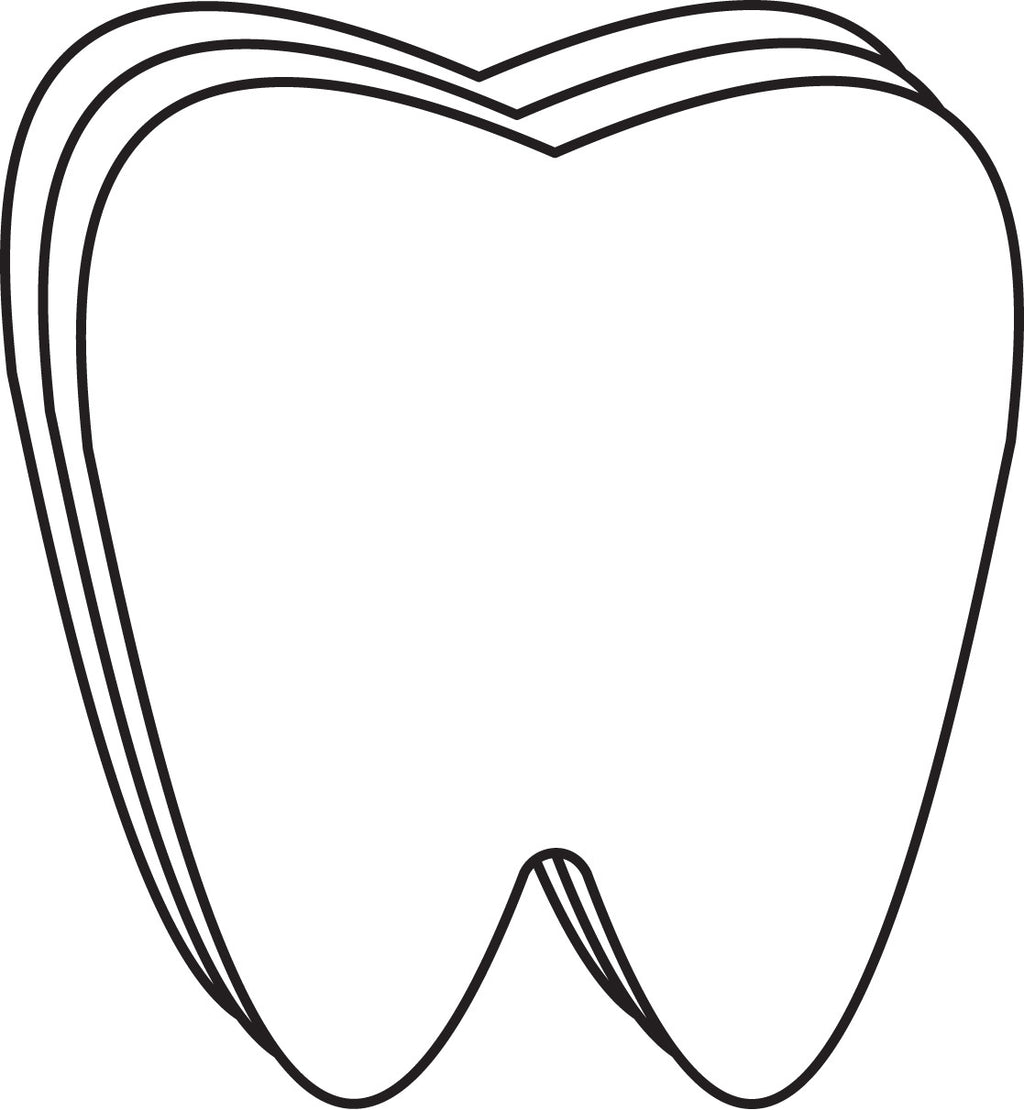 Small Single Color Creative Cut-Out - Tooth