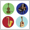 Incentive Stickers - Musical Instruments - Creative Shapes Etc.