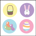 Incentive Stickers - Easter (Pack of 1728) - Creative Shapes Etc.