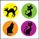 Incentive Stickers - Cats (Pack of 1728) - Creative Shapes Etc.