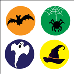 Incentive Stickers - Halloween - Creative Shapes Etc.