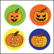 Incentive Stickers - Carved Pumpkins (Pack of 1728) - Creative Shapes Etc.
