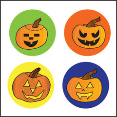 Incentive Stickers - Carved Pumpkins