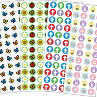 Sticker Set - Easter - Creative Shapes Etc.