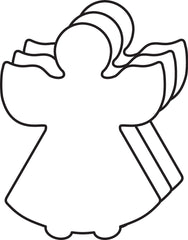 Small Single Color Creative Foam Cut-Outs - Angel (SE-7326)