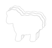 "3"" Sheep Single Color Creative Cut-Outs, 31 Cut-Outs in a Pack for Kids' Craft, Decorations, Spring, Farm, Religious Projects, School Craft Projects"