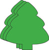 Magnets - Small Single Color Evergreen Tree - Creative Shapes Etc.