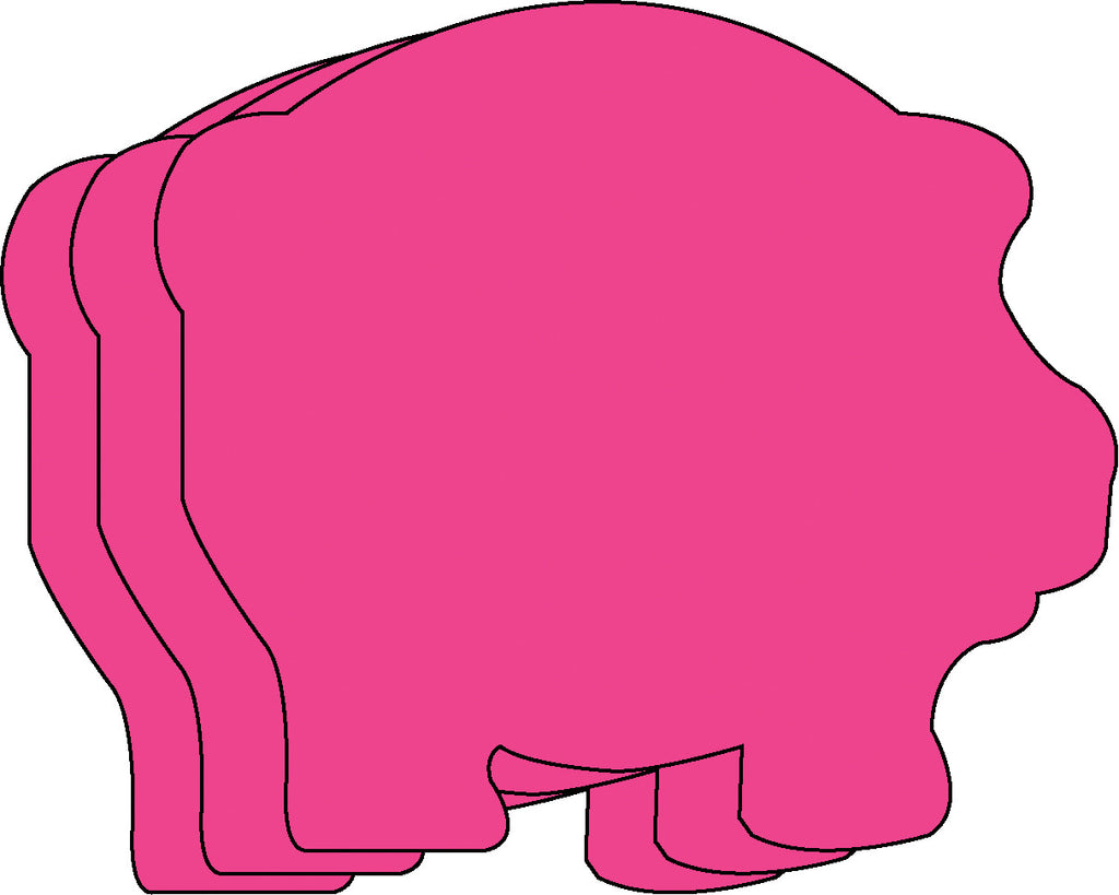 Small Single Color Cut-Out - Pig